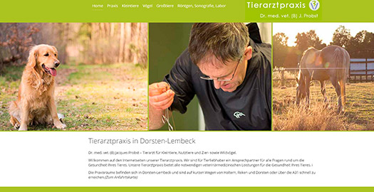 Neue Homepage Tierarztpraxis Probst, Lembeck